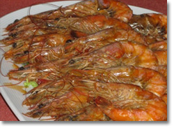 gulet menu king prawns